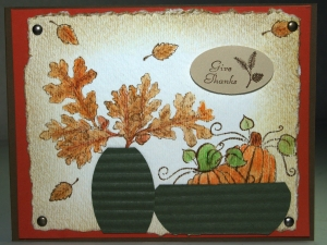 My Fall Card inspired by above pic