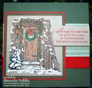 Home for Christmas card