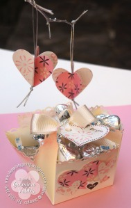 heart ornaments & basket