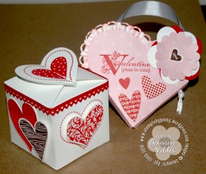 heart pouch and box top