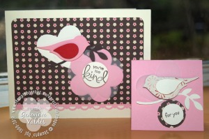 Two-Step Bird and Fancy Flower cards