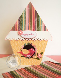 Birdhouse card and matching envelope