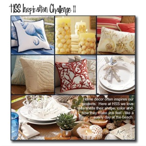 Pottery Barn sea shell images collage