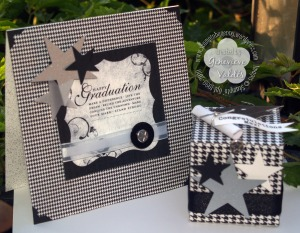 Stampin Up Graduation card & box