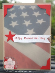 Memorial day card front