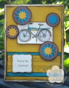 Pedaling Past Card
