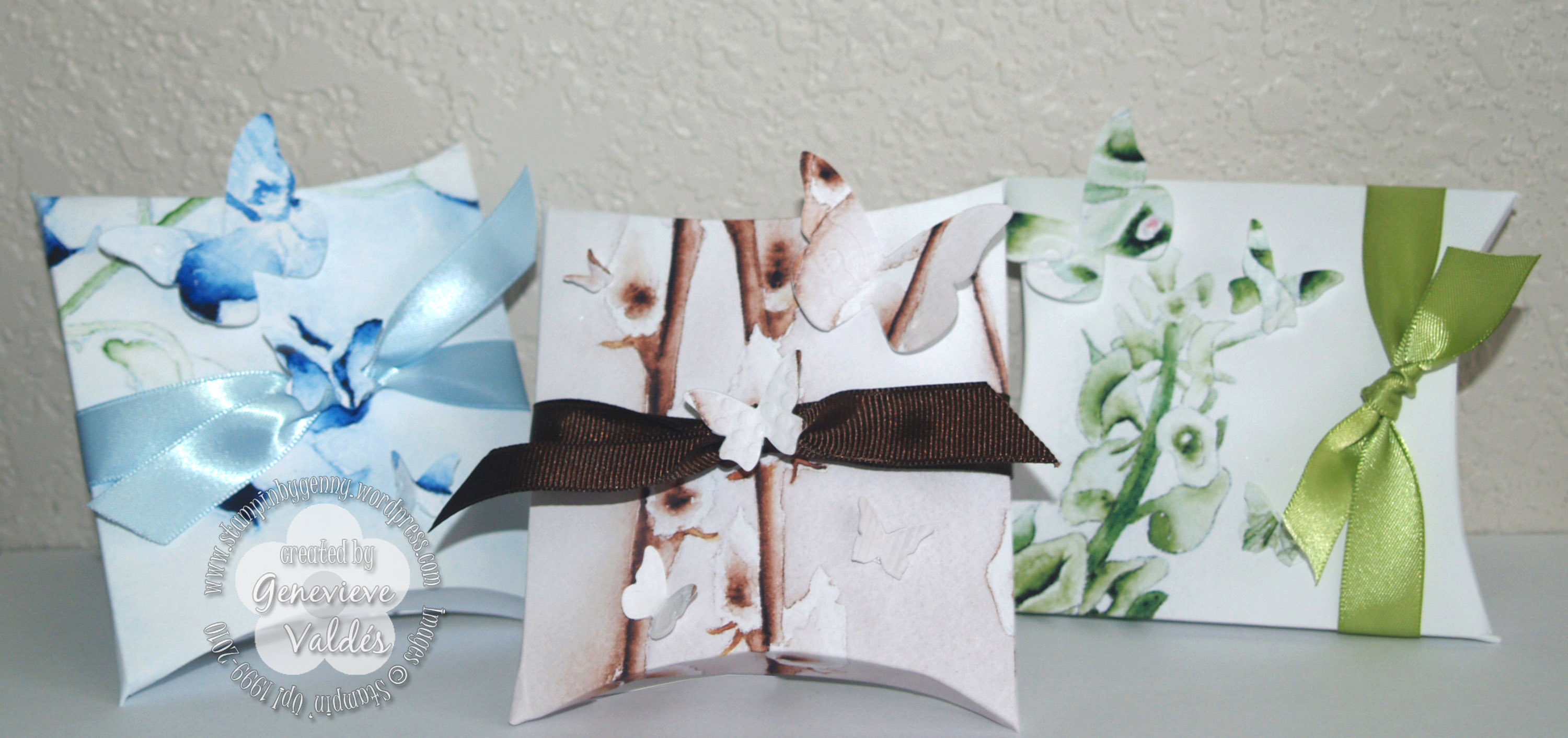 Pillow Boxes Stampin By Gennys Blog