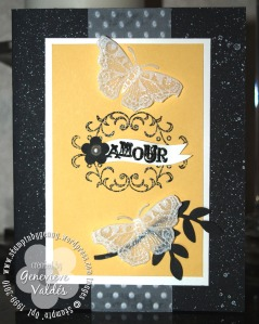 All a Flutter Amour card