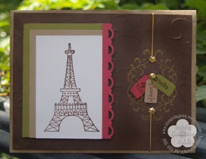 Chic Boutique Eiffle tower card