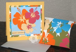 Hibiscus card and favor box