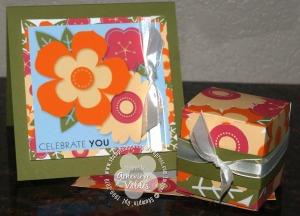 Petal Pizzazz card and favor box