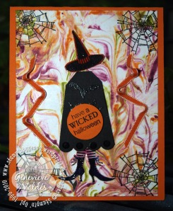 Shaving Cream Halloween card