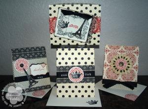 Parisian box with cards