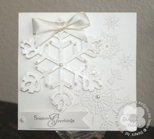 snowflake theme card