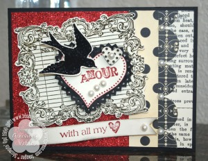 With all my heart Valentine card