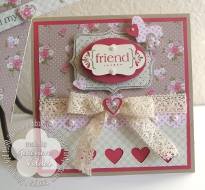 Spring Vintage Friend card