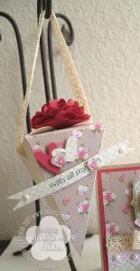 Spring Vintage petal cone box