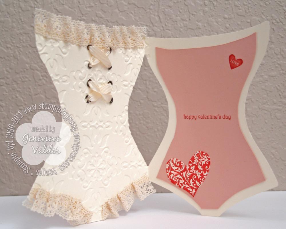 Flirty Valentine Corset Card (2/2)