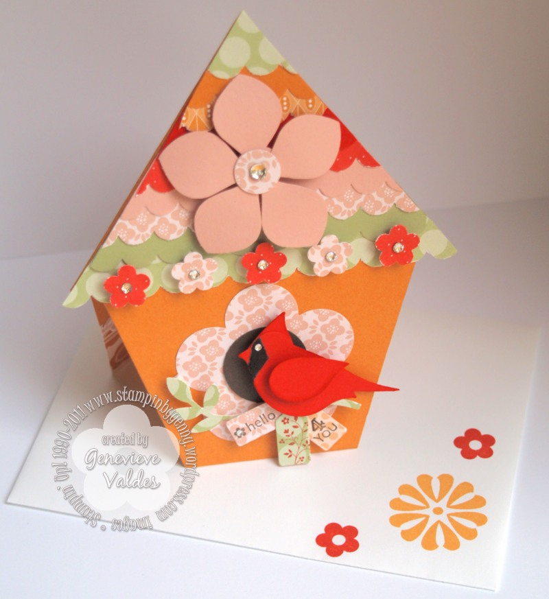 cardinal bird house design