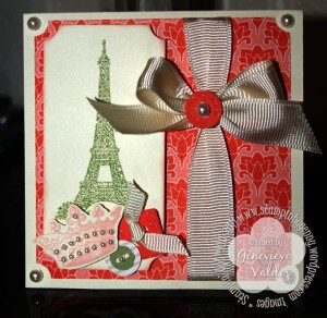 4x4 Eiffel Tower card