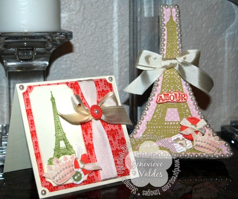 Eiffel tower box and card