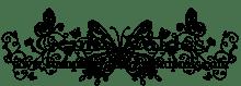 Butterfly scroll Watermark