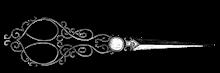 Vintage scissors watermark
