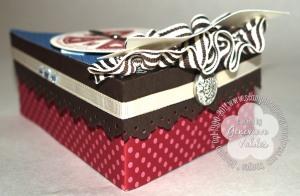 Happy Birthday Cake box - back