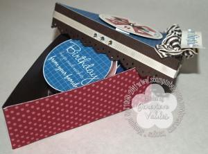 Photos inside cake box