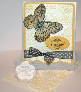 Sympathy butterfly card