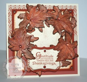 autumn wreath card