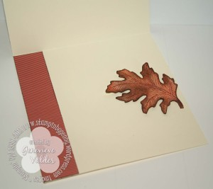 autumn wreath inside card