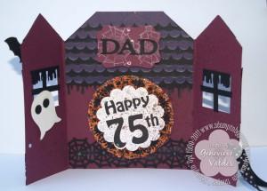 Happy Birthday Halloween Haunted House Card