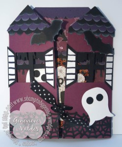 Happy Birthday Halloween Haunted House Card