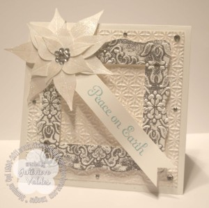 Gilded Frame Over the Top Christmas Card