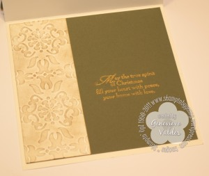 Inside of Square Wreath card