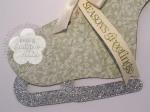 Stampin up skater boot gift card holder