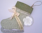 Stampin up skater boot gift card holder