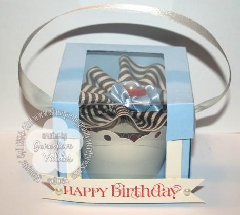 Stampin' UP! cupcake box