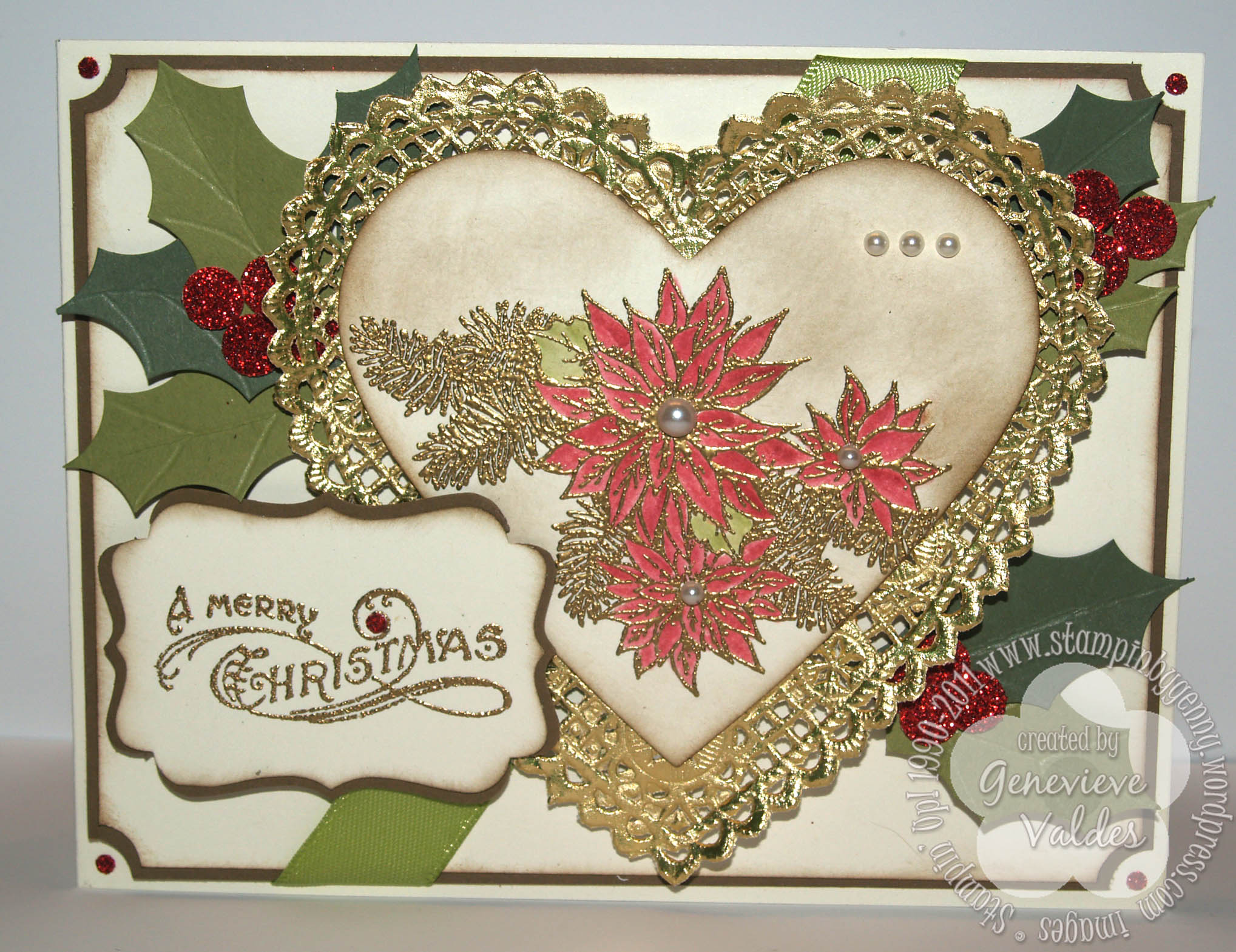 Stampin up vintage christmas card