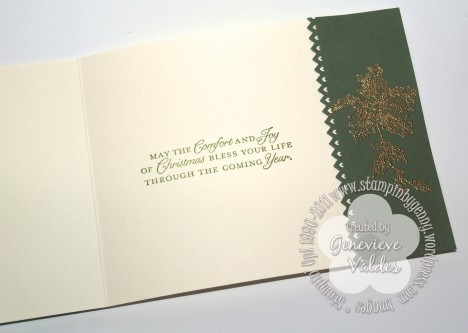 Stampin' Up! Vintage Christmas card inside