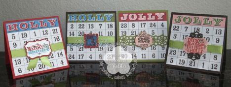 Bingo Christmas Cards