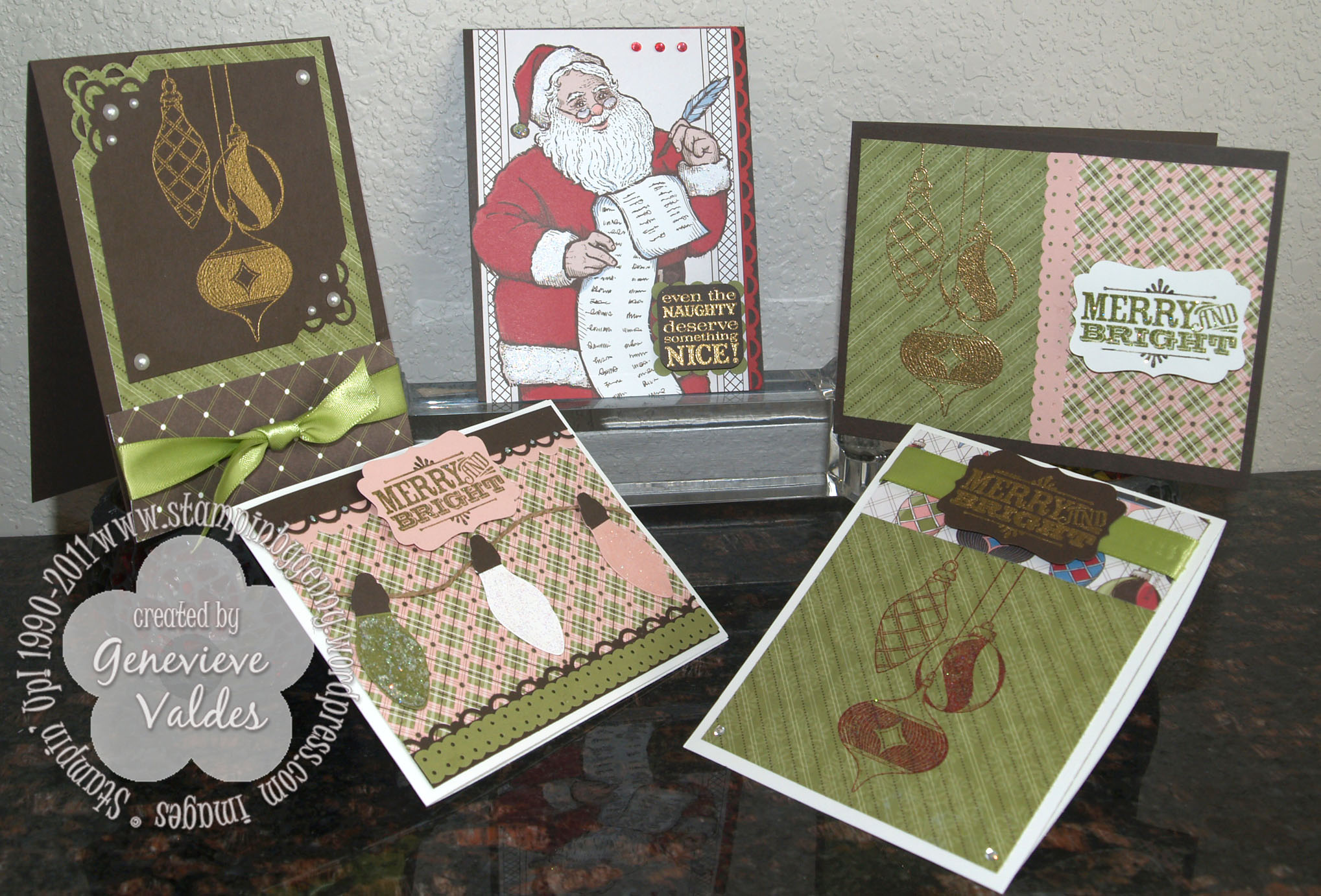 Naughty or Nice Christmas Cards | Stampin\' by Genny\'s Blog