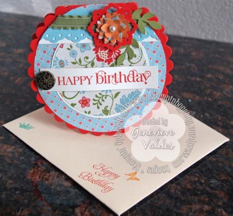 Round Birthday card