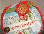 Stampin Up scallop round birthdaycard