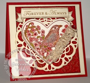Stampin Up Valentine Take it to heart card
