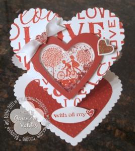 Valentine Easel Shaker Card
