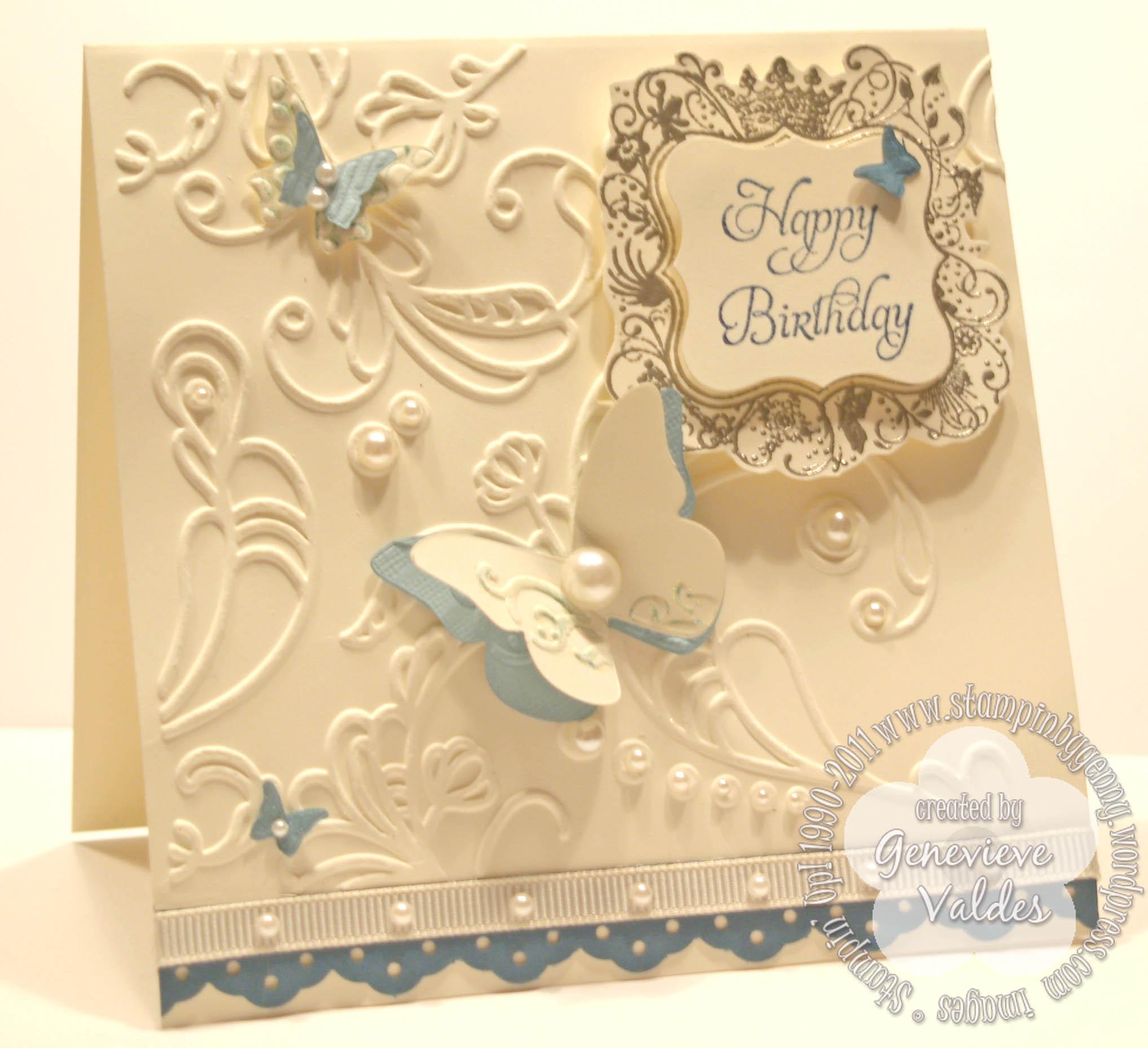 Elementary Elegance Birthday Card Stampin By Gennys Blog
