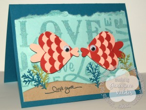 Sea of Love Fish Punch Art Valentine Card