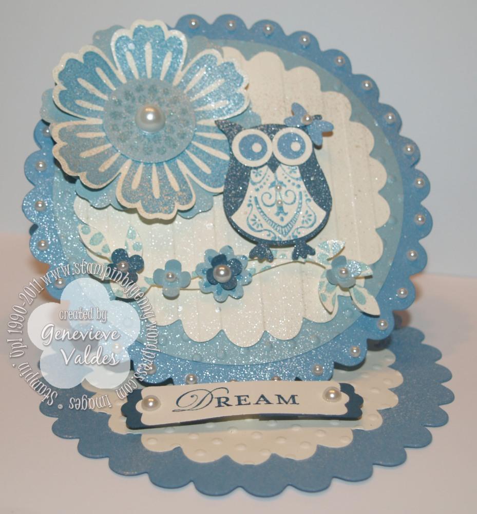 Dreamy Owl Easel card (1/2)